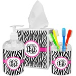Zebra Print Bathroom Accessories Set (Personalized)