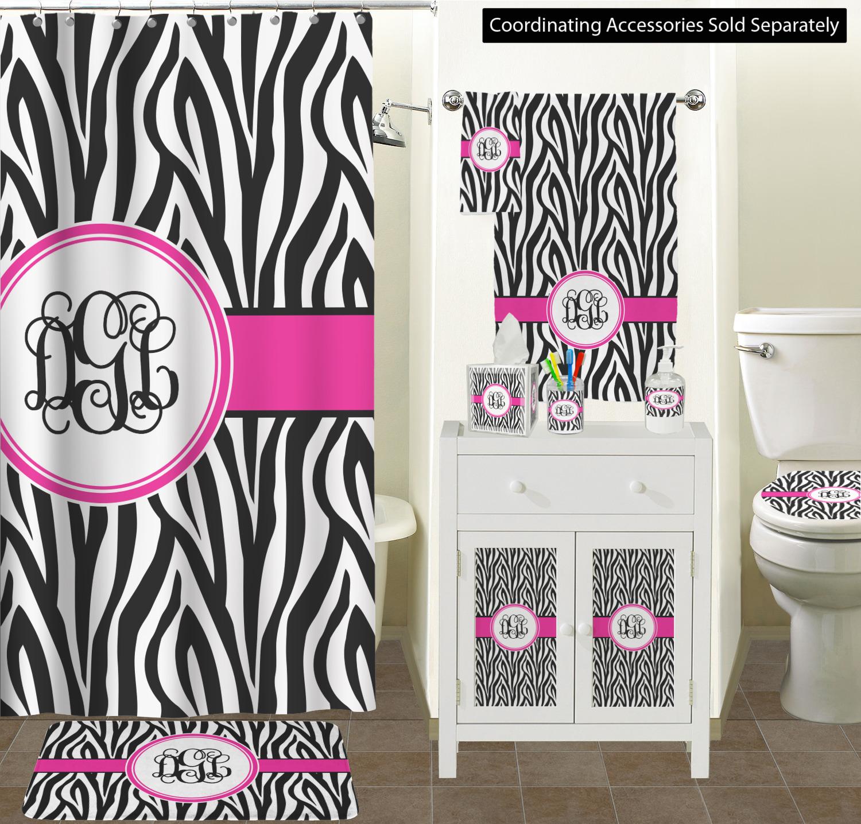 fd1e087b8 ... Zebra Print Bathroom Scene Custom Bathroom Decor (YouCustomizeIt ...