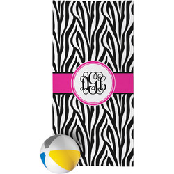 Zebra Print Beach Towel (Personalized)