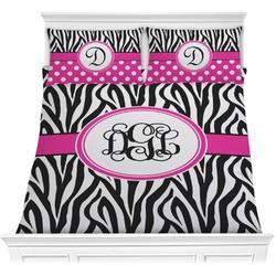 Zebra Print Comforter Set (Personalized)