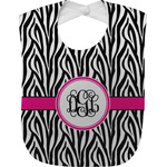 Zebra Print Baby Bib (Personalized)