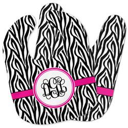Zebra Print Baby Bib w/ Monogram