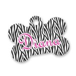 Zebra Print Bone Shaped Dog Tag (Personalized)