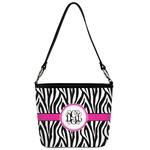 Zebra Print Bucket Bag w/ Genuine Leather Trim (Personalized)