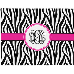 Zebra Print Placemat (Fabric) (Personalized)