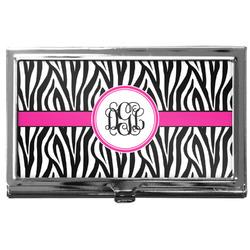 Zebra Print Business Card Holder