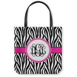 Zebra Print Canvas Tote Bag (Personalized)