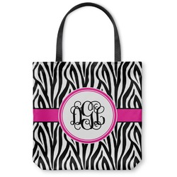 Zebra Print Canvas Tote Bag (Personalized)