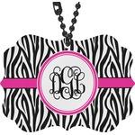 Zebra Print Rear View Mirror Decor (Personalized)