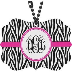 Zebra Print Rear View Mirror Charm (Personalized)