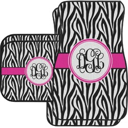Zebra Print Car Floor Mats (Personalized)