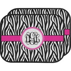 Zebra Print Car Floor Mats (Back Seat) (Personalized)