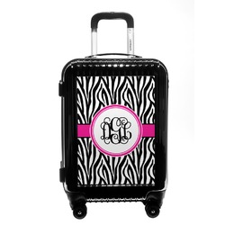 Zebra Print Carry On Hard Shell Suitcase (Personalized)