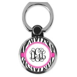Zebra Print Cell Phone Ring Stand & Holder (Personalized)