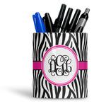 Zebra Print Ceramic Pen Holder