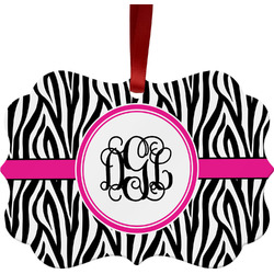 Zebra Print Ornament (Personalized)