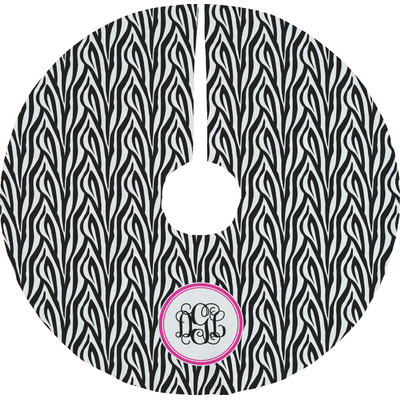 Zebra Print Tree Skirt (Personalized)