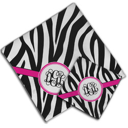 Zebra Print Cloth Napkin w/ Monogram
