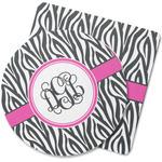 Zebra Print Rubber Backed Coaster (Personalized)