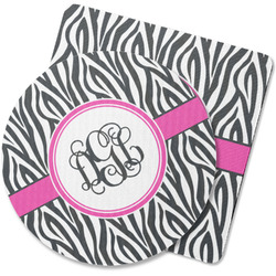 Zebra Print Rubber Backed Coaster (Personalized)