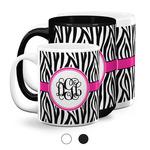 Zebra Print Coffee Mugs (Personalized)