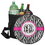 Zebra Print Collapsible Cooler & Seat (Personalized)