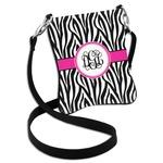 Zebra Print Cross Body Bag - 2 Sizes (Personalized)