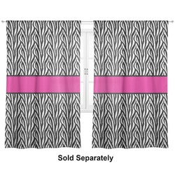 "Zebra Print Curtains - 20""x54"" Panels - Lined (2 Panels Per Set) (Personalized)"