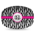 Zebra Print Plastic Platter - Microwave & Oven Safe Composite Polymer (Personalized)