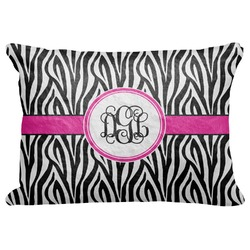 "Zebra Print Decorative Baby Pillowcase - 16""x12"" (Personalized)"