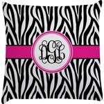 Zebra Print Decorative Pillow Case (Personalized)