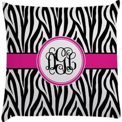 Zebra Print Decorative Pillow Case (Personalized)