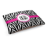 Zebra Print Dog Bed (Personalized)