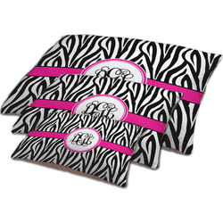 Zebra Print Dog Bed w/ Monogram