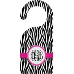 Zebra Print Door Hanger (Personalized)