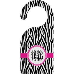 Zebra Print Door Hanger (Personalized)