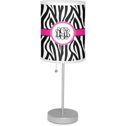 """Zebra Print 7"""" Drum Lamp with Shade (Personalized)"""