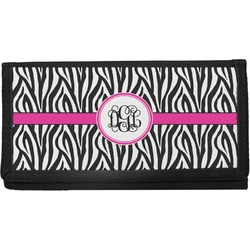 Zebra Print Canvas Checkbook Cover (Personalized)