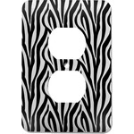 Zebra Print Electric Outlet Plate (Personalized)