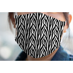 Zebra Print Face Mask Cover (Personalized)