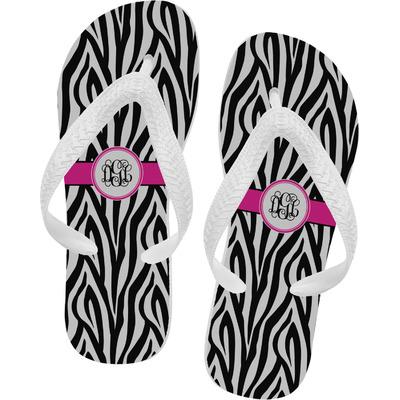 Zebra Print Flip Flops (Personalized)