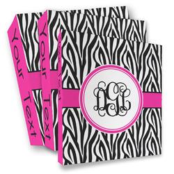 Zebra Print 3 Ring Binder - Full Wrap (Personalized)