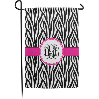 Zebra Print Garden Flag - Single or Double Sided (Personalized)