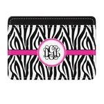 Zebra Print Genuine Leather Front Pocket Wallet (Personalized)