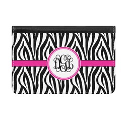 Zebra Print Genuine Leather ID & Card Wallet - Slim Style (Personalized)