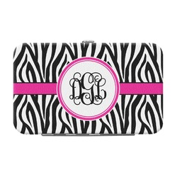 Zebra Print Genuine Leather Small Framed Wallet (Personalized)