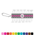 Zebra Print Golf Tees & Ball Markers Set (Personalized)