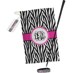 Zebra Print Golf Towel Gift Set (Personalized)