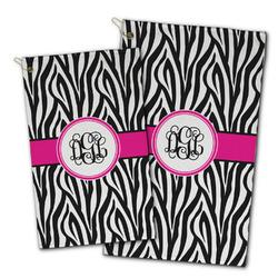 Zebra Print Golf Towel - Full Print w/ Monogram
