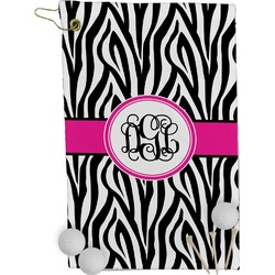 Zebra Print Golf Towel - Full Print (Personalized)